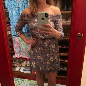 Off the shoulder floral dress boho chic!